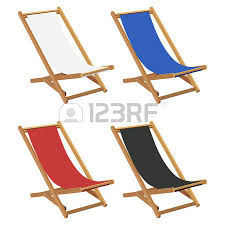 Deck Chair Template Template Drawn Bed On A White Background Royalty Free Cliparts