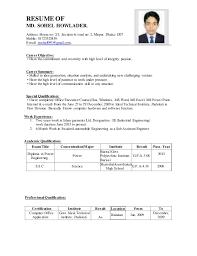 High Level Resume Resume Of Md Sohel