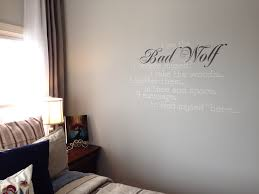 custom bad wolf quote wall decal by geekerymade on deviantart
