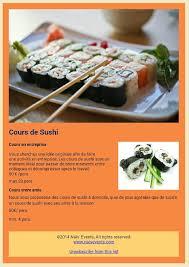 cours cuisine sushi organisez votre cours de sushi privé cours de sushi