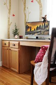 Desk Height Base Cabinets Lowes Diy Desk From Stock Cabinets Woodland Office