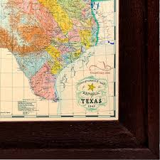 Texas Under Spain Flag Buy Republic Of Texas Map 1845 Framed Historical Maps And Flags