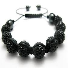 shamballa beads bracelet images Black unisex shamballa bracelet crystal disco ball friendship bead jpg