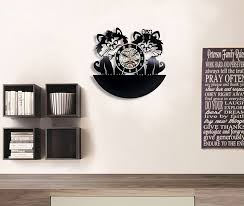 amazon com cute cats love vinyl record wall clock decorate your