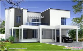 based box type modern home design kerala floor plans building