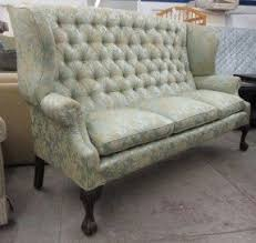 high back tufted sofa foter