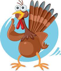 Thanksgiving Bird Scared Turkey Vector Stock Vector Illustration Of