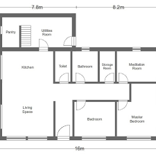 simple floor plan simple house floor plan with dimensions simple house house