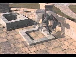 Brick Fire Pit Kit by Firepit Kit Square Assembly Video Youtube