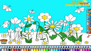 flower garden coloring pages for kids flower garden coloring