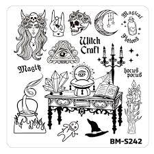 halloween plates halloween nail stamp plates house of horrors it u0027s witch craft