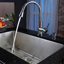 Faucets For Kitchen Kitchen Silver Sink Soap Dispenser Matched With Sink And Faucet
