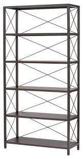 Home Decorators Bookcase Ryan Metal Bookcase Industrial Bookcases By Luxe Home Decorators