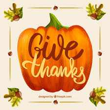 thanksgiving design with pumpkin vector free