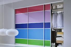 Custom Glass Closet Doors Custom Aluminum Framed Sliding Closet Doors With Backpainted Glass