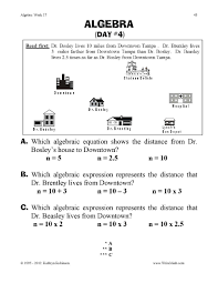 Algebraic Expressions Worksheets 9th Grade 3rd Grade Algebra Worksheets Worksheet Format And Example
