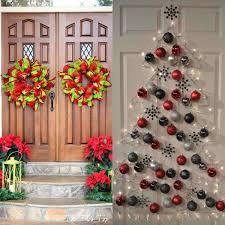 Front Doors Decorated For Christmas by Home Front Door Décor Different Ideas To Create Sizzling Effects