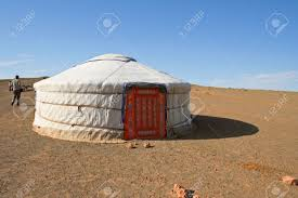 yurt traditional nomadic house in central asia stock photo