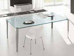 Contemporary Italian Dining Table Nella Vetrina Tonelli Stratos Mono Modern Italian Transparent