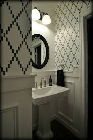 best images about future bedroom bath fantasies ideas decor and the dog bathrooms valspar ultra white stenciled walls bathroom powder room black