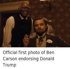 Django Meme - official first photo of ben carson endorsing donald trump ben