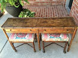 Sofa Table With Stools Hekman Bamboo Table With Stools Craigslist Score Dimples