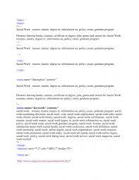 social work resume template sle social work resume resume exle social worker resume sle