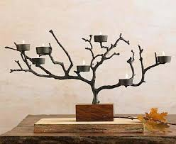 tree branch candle holder connect the candle holder with metal wire to the branches flickr