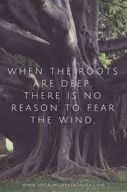 quotes when the roots are there is no reason to fear