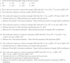 constructing angles of 60º 120º 30º and 90º