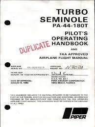 piper pa 44 180t turbo seminole flight manual airspeed aerospace