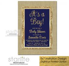 navy blue u0026gold baby shower invitation boy burlap gold glitter