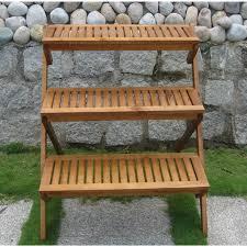 3 tier wooden garden cart planter gardening pinterest garden