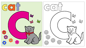 coloring pages for letter c cat coloring page letter c free stock photo public domain pictures