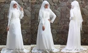 wedding dress surabaya wedding dress muslimah modern brocade broken white