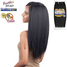 pre braided crochet hair freetress equal synthetic flexi lock braid 3x pre loop crochet