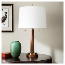 Brass Colored Desk Lamp Franklin Table Lamp Wood With Brass Trim Threshold Target