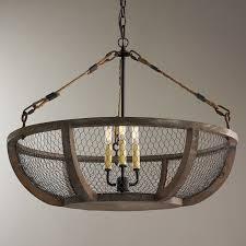 Wire A Chandelier Chicken Wire Basket Chandelier Shades Of Light