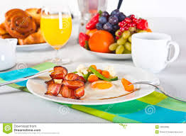how to set a table for breakfast breakfast table stock photo image of bacon breakfast 18933088