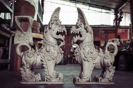 foo dogs for sale thai foo dogs singha ceramic statues in pair foo dogs for sale