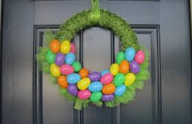 how to make an easter egg wreath wall decor pinteresting