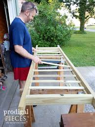 diy garden arbor with faux patina build plans prodigal pieces