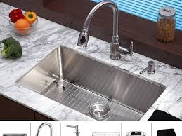 faucet interior deluxe square undermount kitchen sink under blue