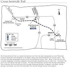 Oviedo Florida Map by Cross Seminole Trail Maplets