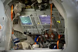 the interior of the soyuz simulator nasa