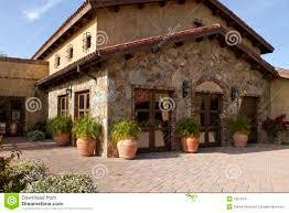 italian villa home and courtyard plaza royalty free stock