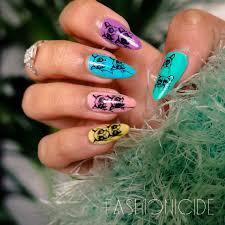 nail art grumpy cat nails via stamping fashionicide
