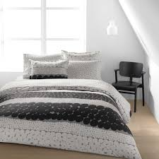 marimekko jurmo grey white duvet cover set full queen