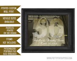 50th wedding anniversary ideas custom 50th wedding anniversary gift print 50th anniversary