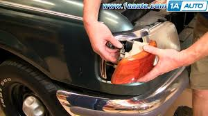 1996 ford explorer tail light assembly how to install replace parking signal lights and bulb ford ranger 93